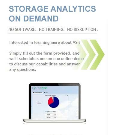 Storage Analytics on Demand