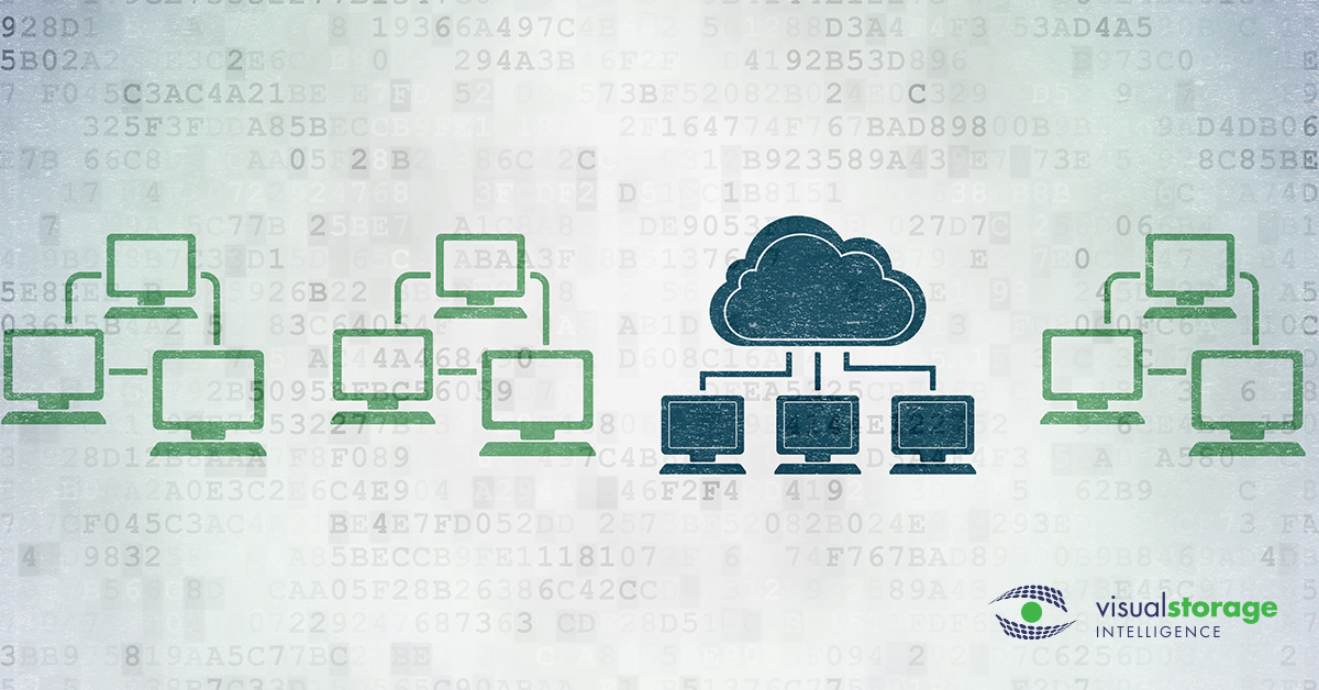 VMware Capacity Management | graphic of various computer networks including a cloud network