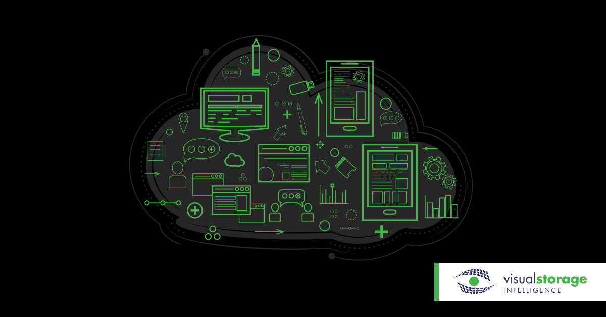 Consolidated reporting   green technology graphics inside a cloud